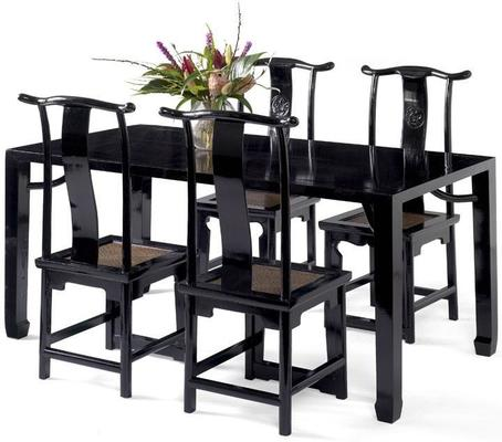 Ming Dining Table, Black Lacquer image 2