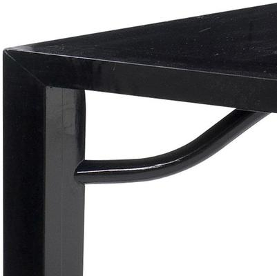 Ming Dining Table, Black Lacquer image 4