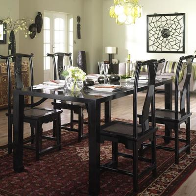 Ming Dining Table, Black Lacquer image 5