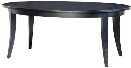 Oval Black Birch Dining Table