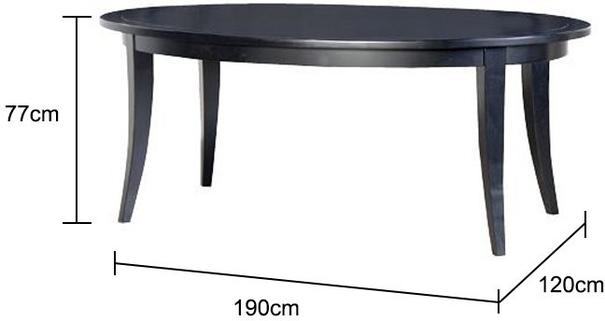 Oval Black Birch Dining Table image 2