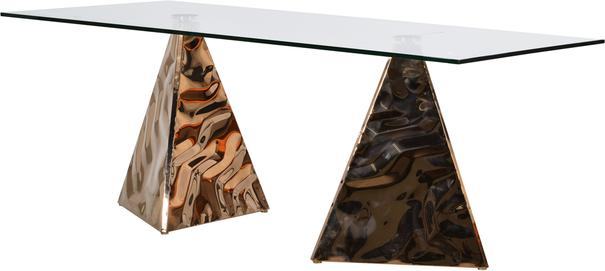 Pyramid Dining Table In Copper