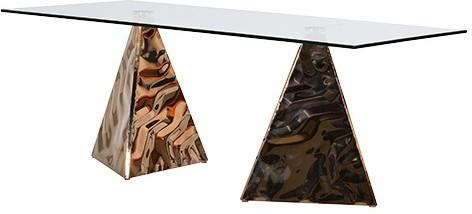 Pyramid Dining Table In Copper image 2