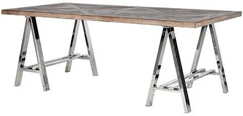 Metal and Recycled Elm Dining Table image 2