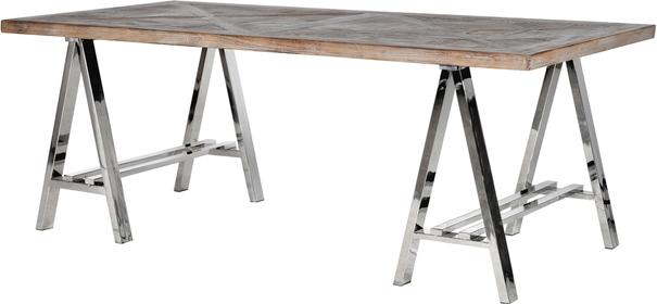 Metal and Recycled Elm Dining Table image 3