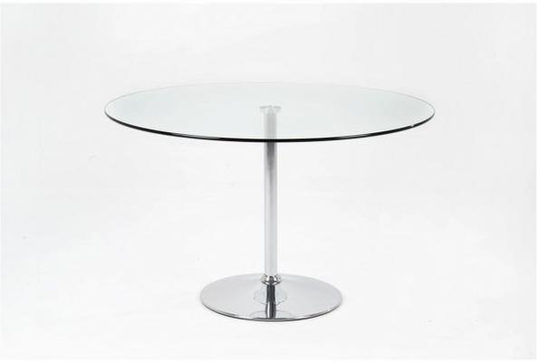 Becky Cafe Table Glass Top Chrome Base