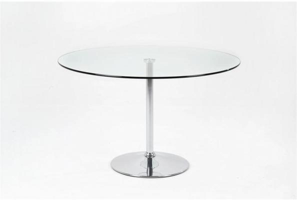 Becky Cafe Table Glass Top Chrome Base image 2