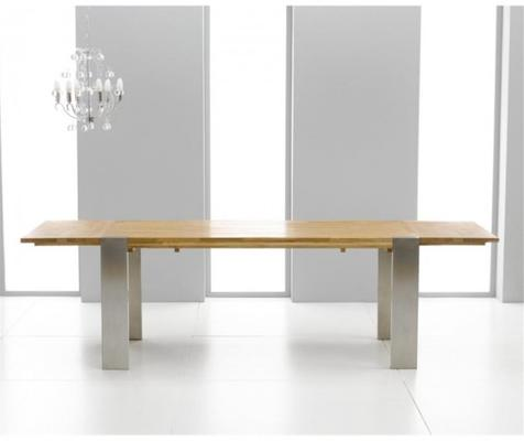Cancun oak extending dining table image 2