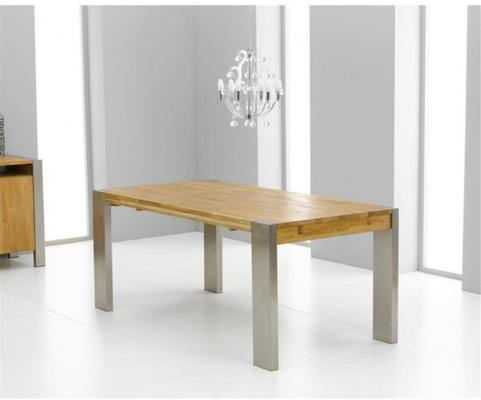 Cancun oak extending dining table image 3