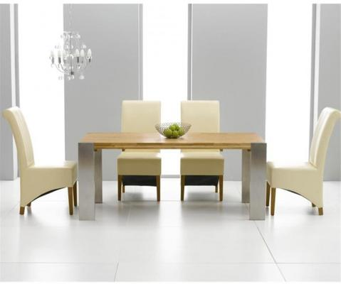 Cancun oak extending dining table image 4