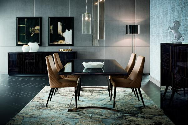 Nightfly dining table and square chairs image 2