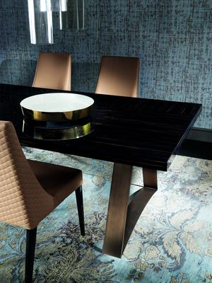 Nightfly dining table and square chairs image 3