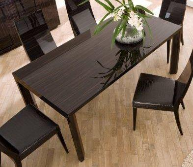 Nightfly extending table and square chairs