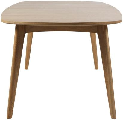 Marte Modern Extending Dining Table Oak image 6