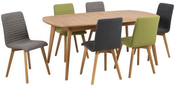 Marte Modern Extending Dining Table Oak image 7