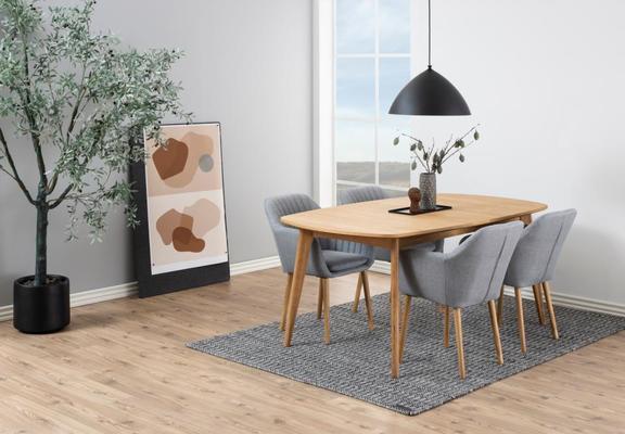 Marte Modern Extending Dining Table Oak image 8
