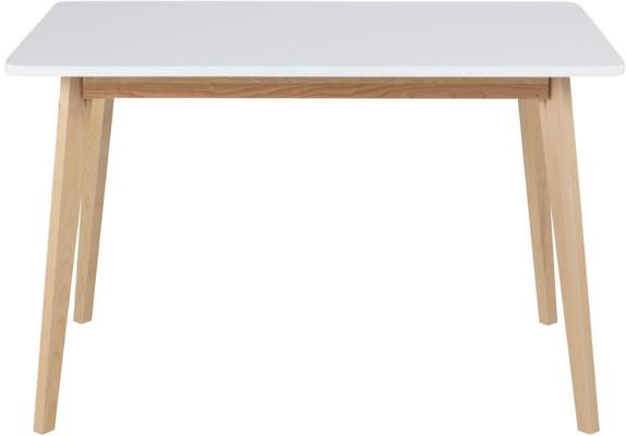 Raven Dining Table Birch Frame and White Top