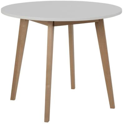 Raven Round Dining Table Birch with White Top