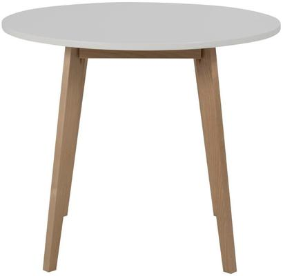 Raven Round Dining Table Birch with White Top image 2