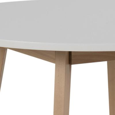 Raven Round Dining Table Birch with White Top image 3