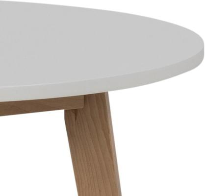 Raven Round Dining Table Birch with White Top image 4