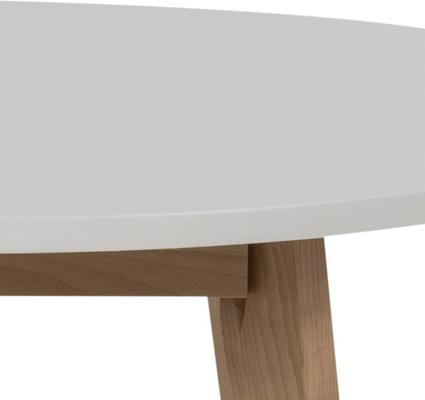 Raven Round Dining Table Birch with White Top image 6