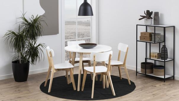 Raven Round Dining Table Birch with White Top image 7