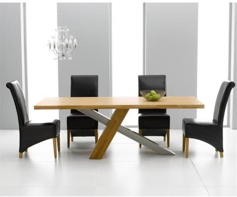 Sarasota oak dining table image 3