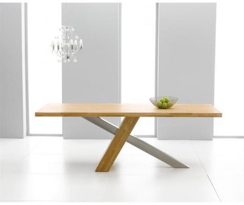 Sarasota oak dining table image 4
