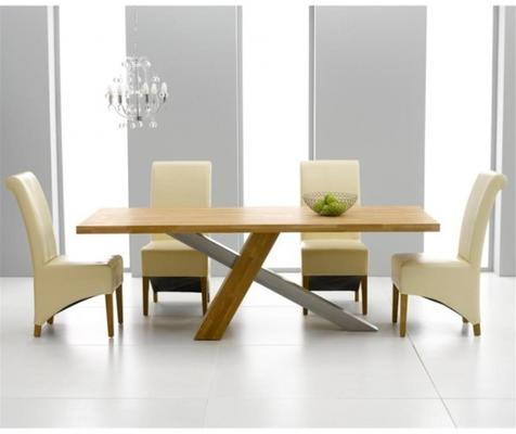 Sarasota oak dining table image 5