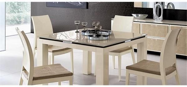 Diamond square extending table