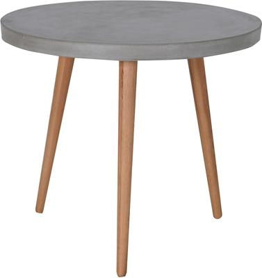 Round Concrete Top Dining Table