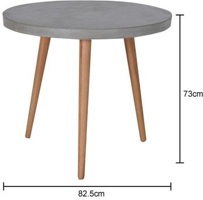 Round Concrete Top Dining Table image 2