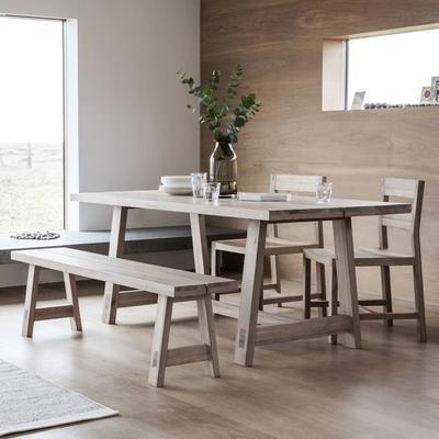 Kielder Oak Rectangular Wood Dining Table image 2