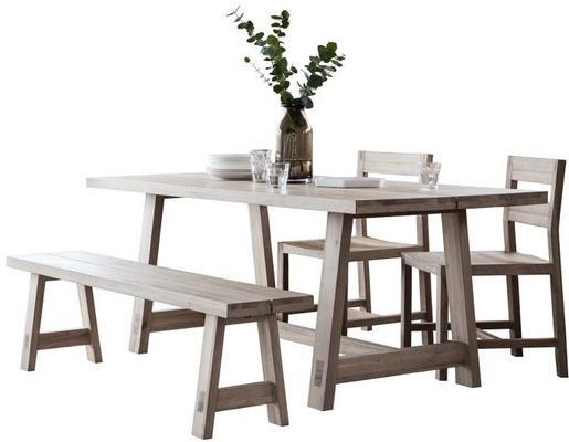 Kielder Oak Rectangular Wood Dining Table image 4