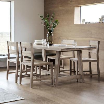 Kielder Oak Rectangular Wood Dining Table image 5