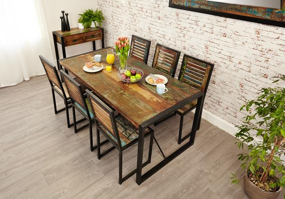 Shoreditch Rustic Dining Table - Large image 2