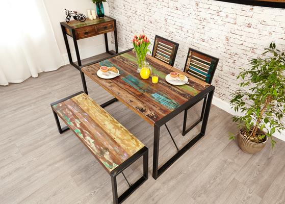 Shoreditch Rustic Dining Table - Small image 2