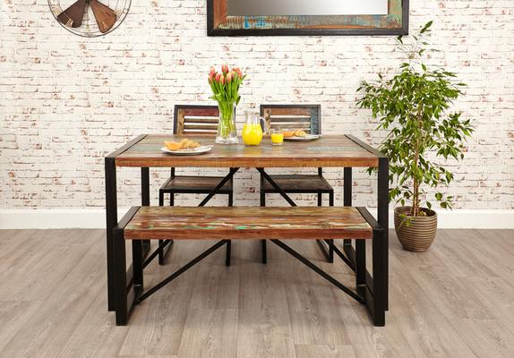 Shoreditch Rustic Dining Table - Small image 3