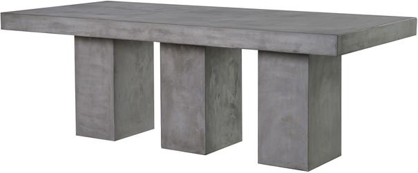 Rectangular Concrete Dining Table