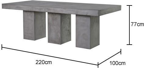Rectangular Concrete Dining Table image 2
