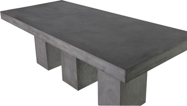 Rectangular Concrete Dining Table image 3