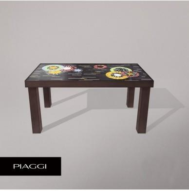 Fortis Circles Dining Table Glass Mosaic Top image 8