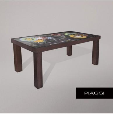 Fortis Circles Dining Table Glass Mosaic Top
