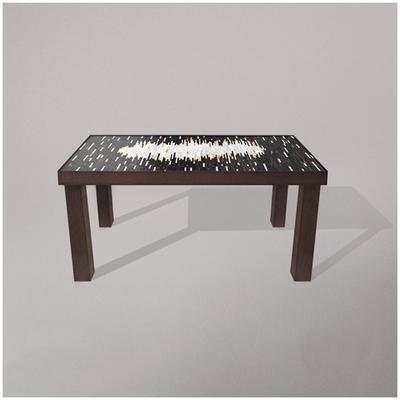 Fortis Mirage Dining Table Glass Mosaic Top