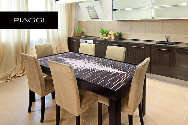 Fortis Sequence Dining Table Glass Mosaic Top image 3