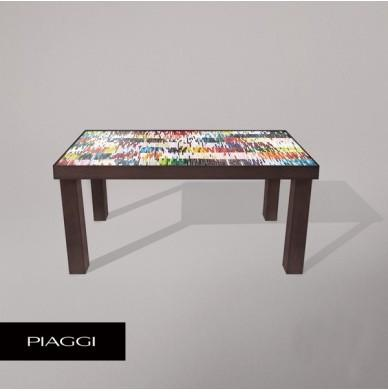 Fortis Shimmer Dining Table Glass Mosaic Top image 2