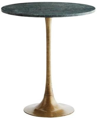 Tulip Table Marble Top and Brass Base image 2
