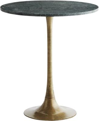 Tulip Table Marble Top and Brass Base image 3