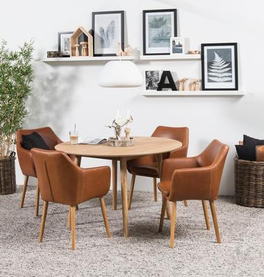 Nagane round dining table image 4